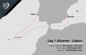Leg 1 route
